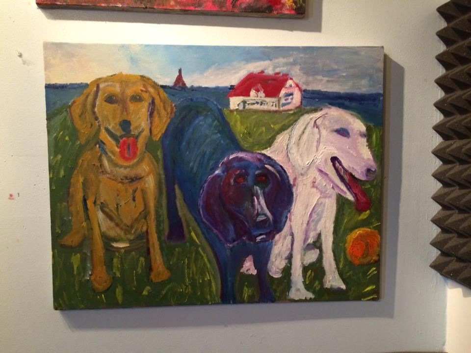 I love this one. Starting from the left, Happy, pet me and I didn't do it. 225 for sale